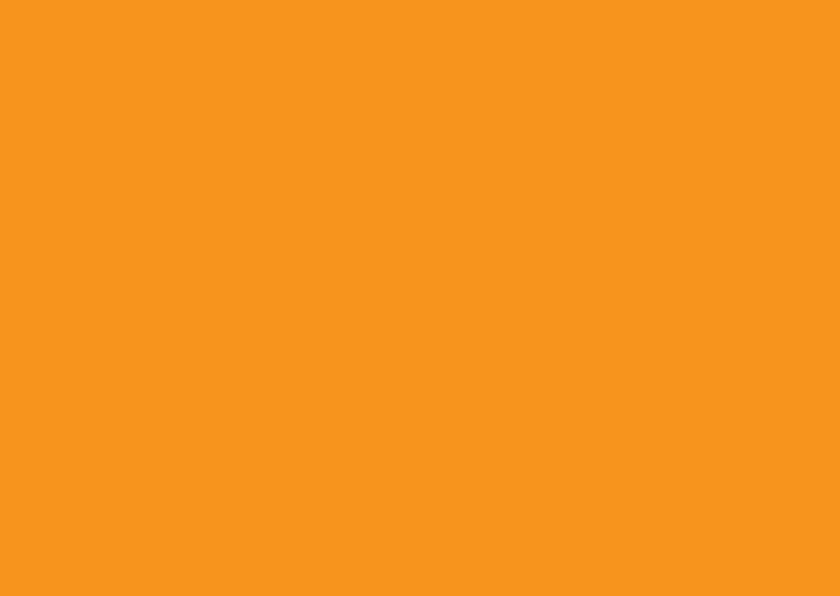 Blanco kaarten - Oranje liggend dubbel
