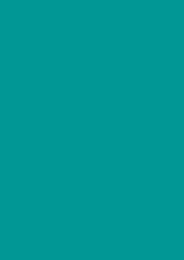 Blanco kaarten - Turquoise dubbel staand