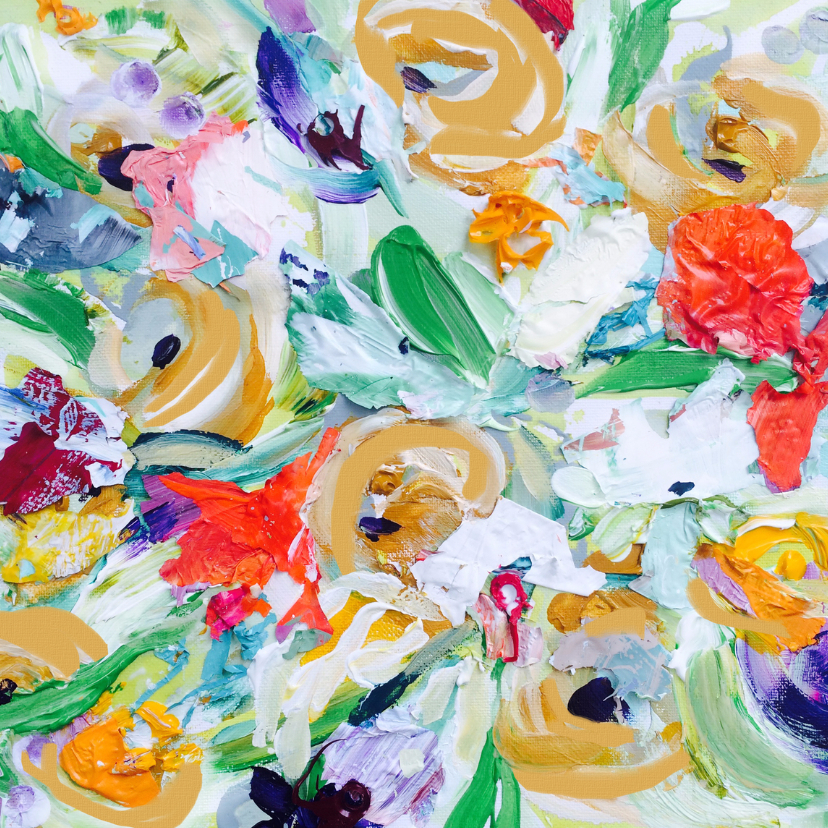 Bloemenkaarten - Bloemen boeket zomer