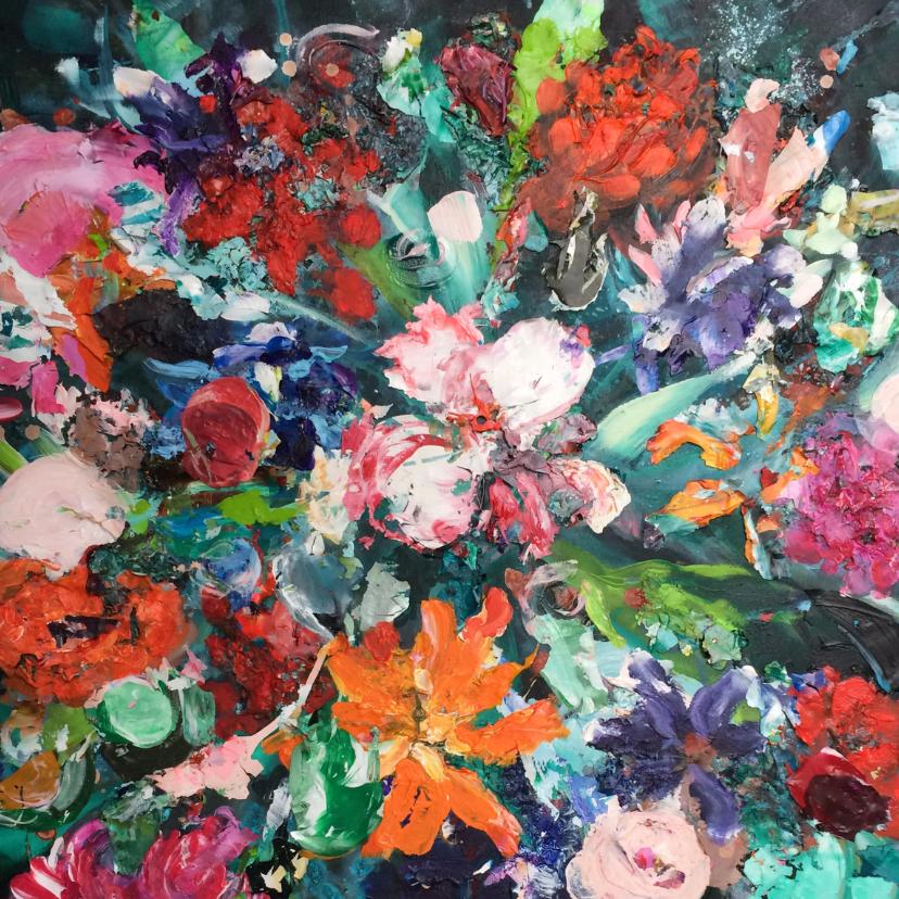 Bloemenkaarten - Bloemen bont boeket