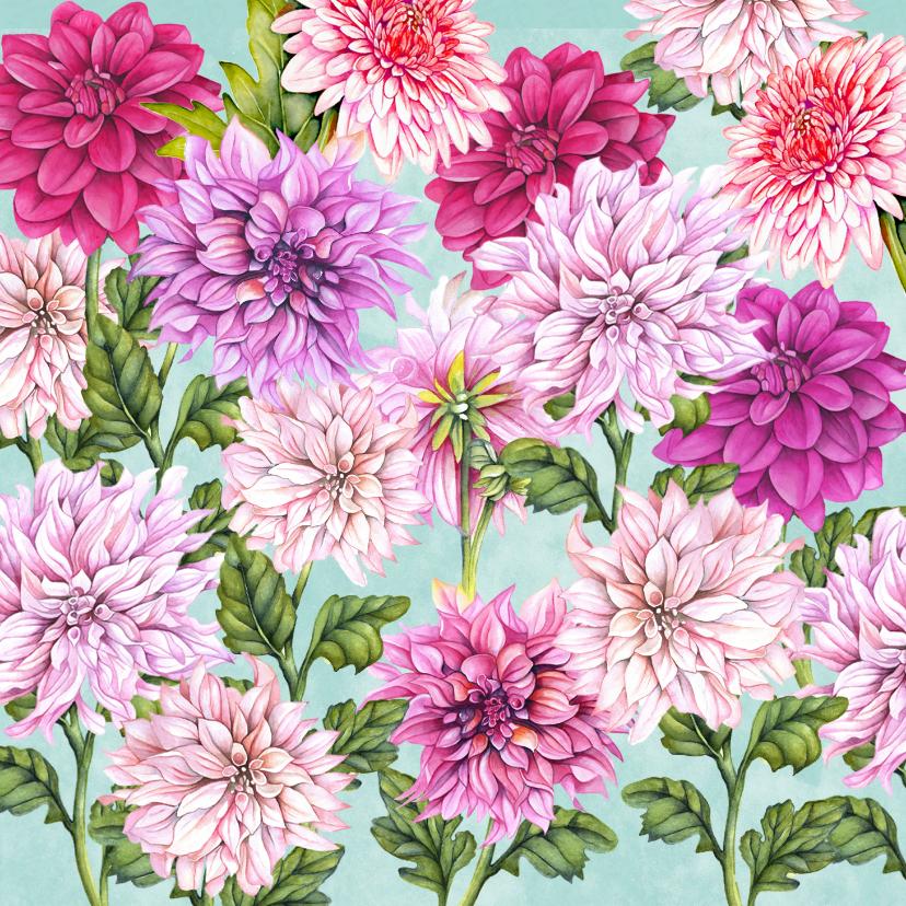 Bloemenkaarten - Bloemen dahlia