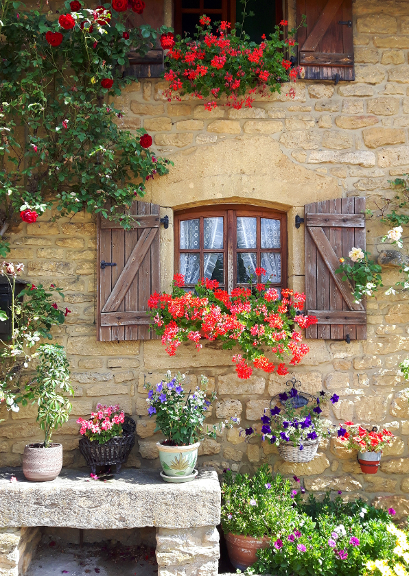 Bloemenkaarten - Bloemen Frankrijk huis