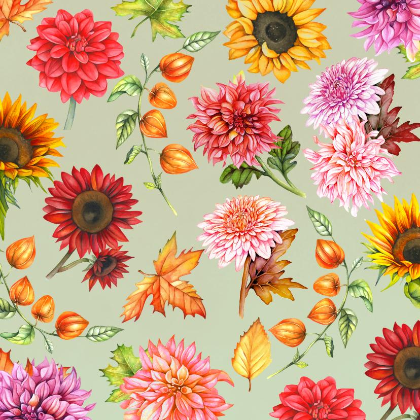 Bloemenkaarten - Bloemen in de herfst