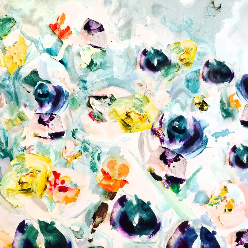 Bloemenkaarten - Bloemen kunst print vk