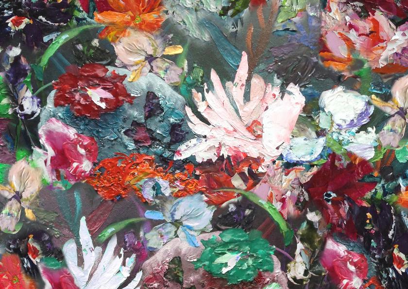 Bloemenkaarten - Bloemen mix paletstukken