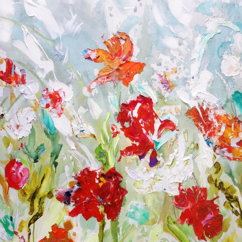 Bloemenkaarten - Bloemen paletstukken 'Shine'