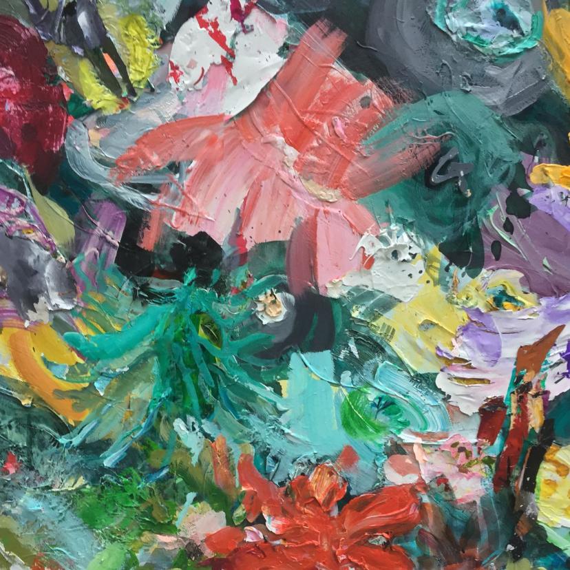 Bloemenkaarten - Bloemen schilderij iets fraais