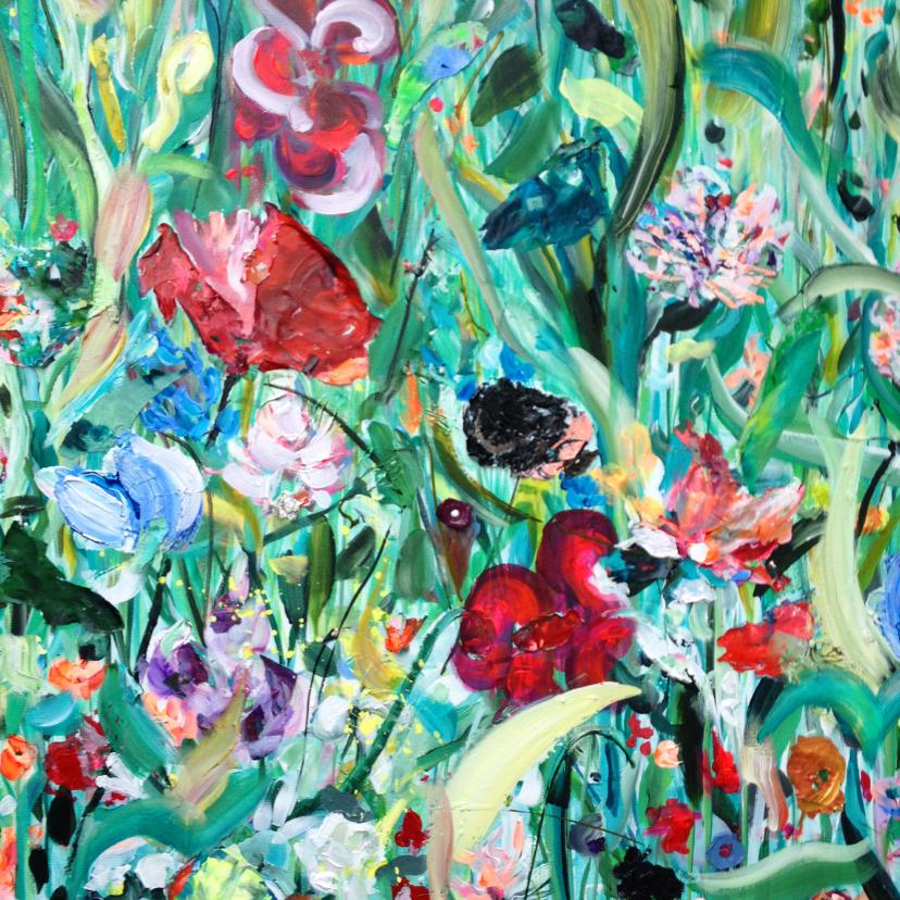 Bloemenkaarten - bloemen schilderij Rijk Veld