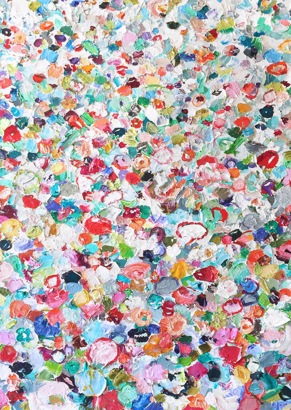 Bloemenkaarten - Bloemen schilderij vrolijk