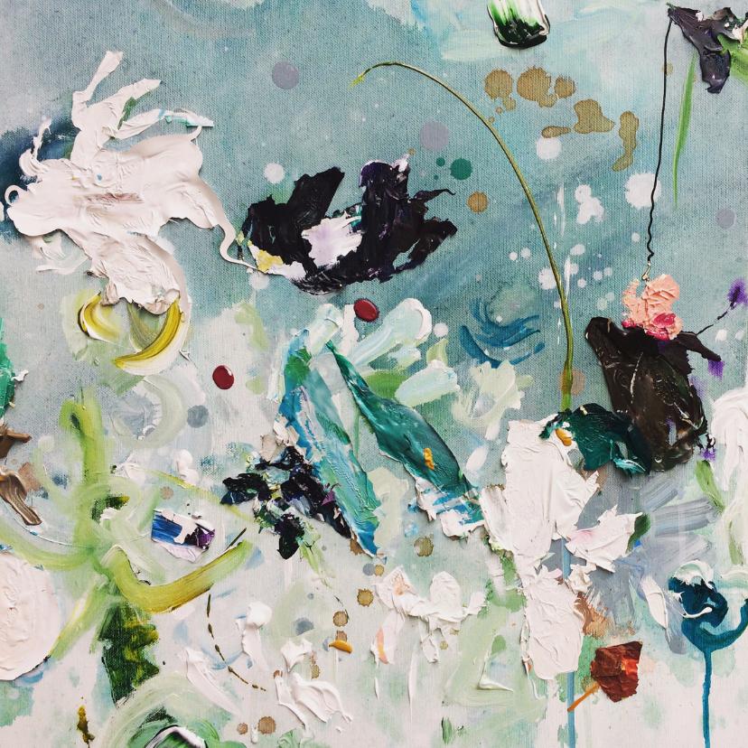 Bloemenkaarten - Bloemen schilderij Weidse Weelde