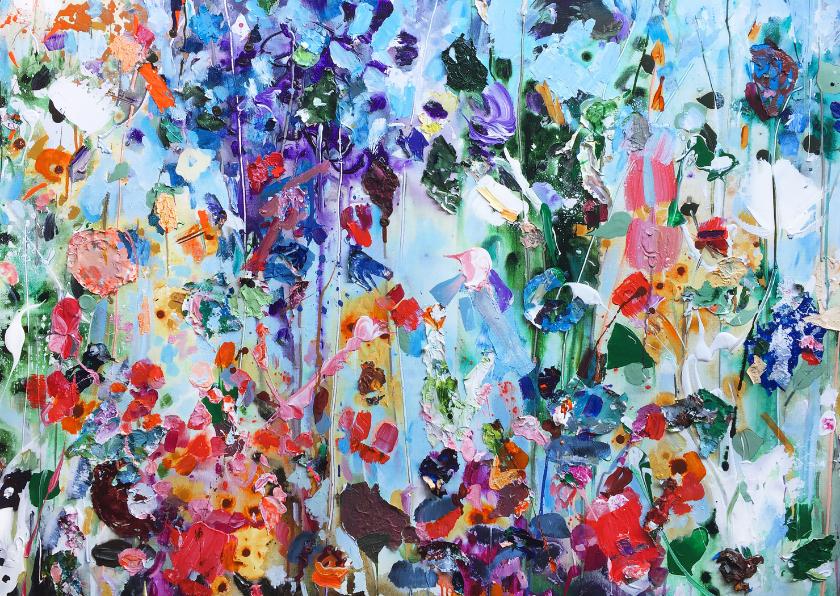 Bloemenkaarten - Bloemen schilderkunst iets fraais Martine de Ruiter