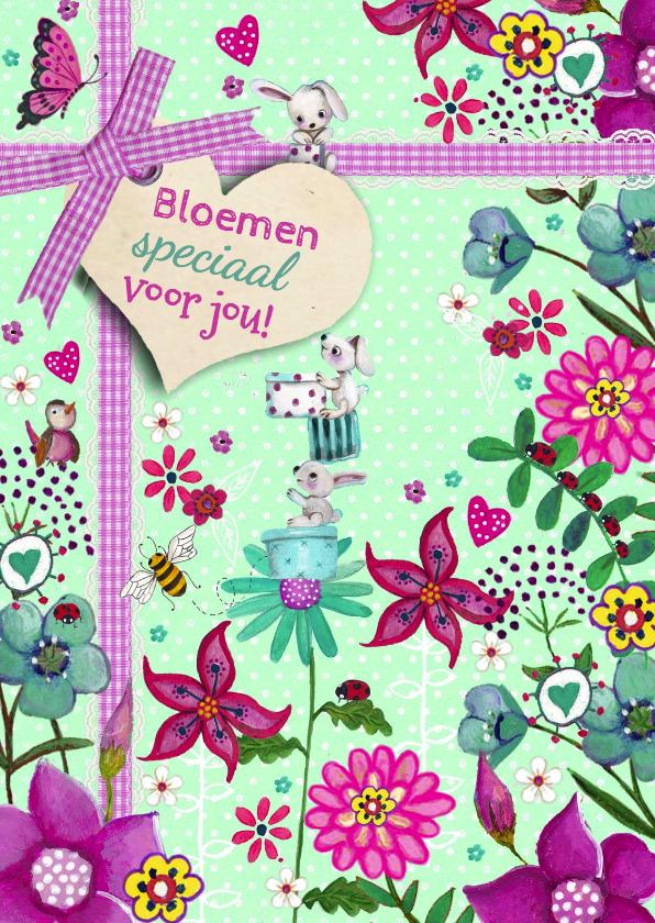 Bloemenkaarten - Bloemen tuin voor jou