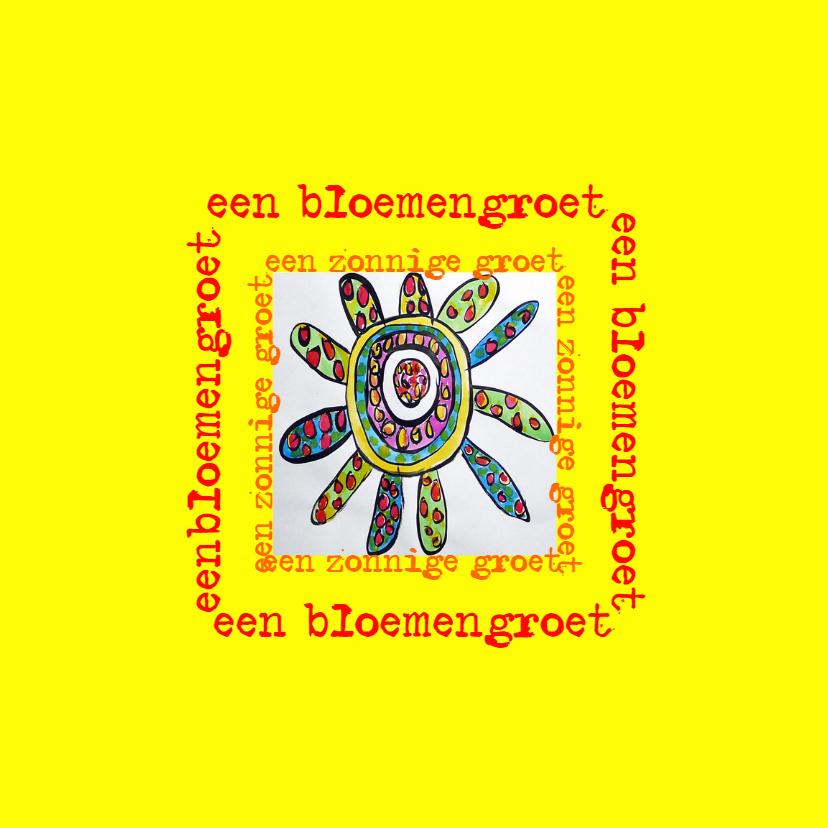 Bloemenkaarten - Bloemengroet geel - AW