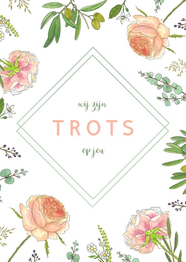 Bloemenkaarten - Bloemenkaart aquarel  rozen