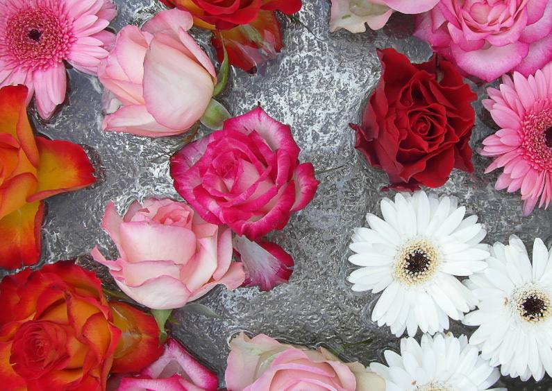 Bloemenkaarten - Bloemenkaart bloemen in schaal