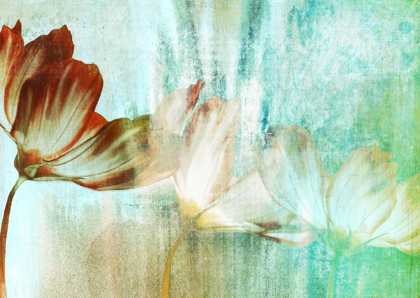 Bloemenkaarten - Bloemenkaart bloemen schilderij