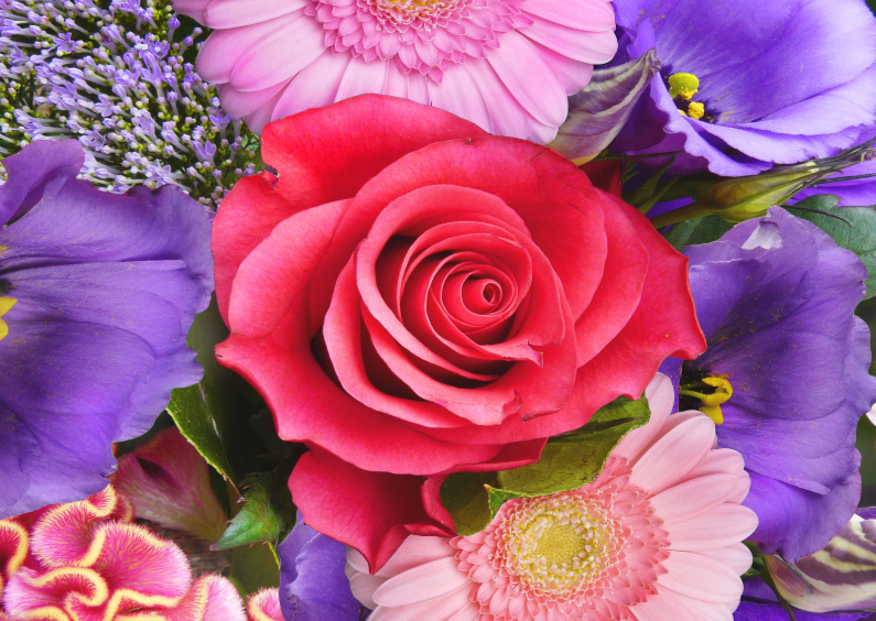 Bloemenkaarten - Bloemenkaart Bouquet L