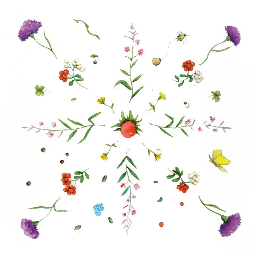 Bloemenkaarten - Bloemenkaart De allermooiste bloemen