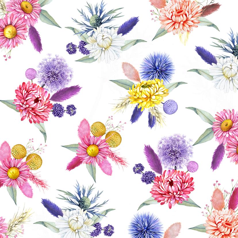 Bloemenkaarten - Bloemenkaart droogbloemen