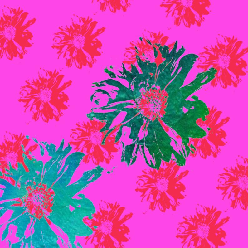 Bloemenkaarten - bloemenkaart fleurig