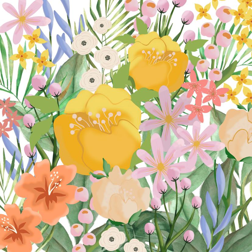 Bloemenkaarten - Bloemenkaart fris en vrolijk