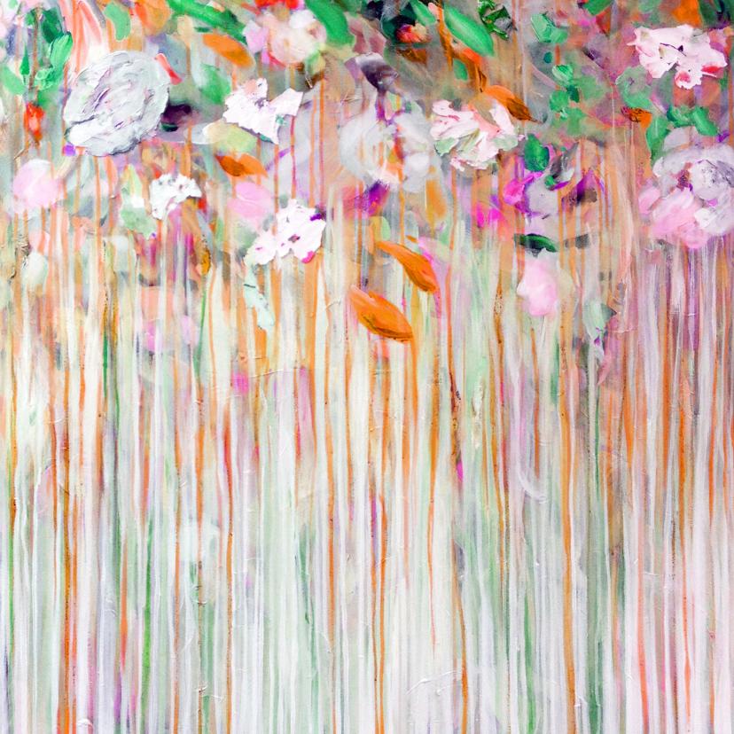 Bloemenkaarten - Bloemenkaart kunst mist