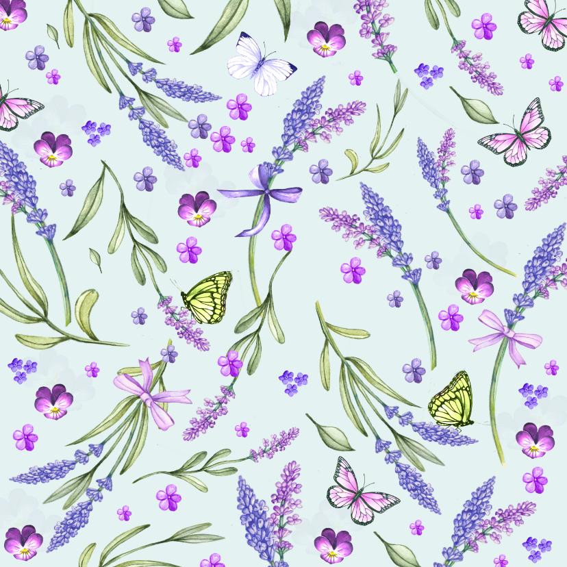 Bloemenkaarten - Bloemenkaart lavendel zomer