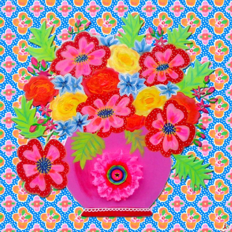 Bloemenkaarten - Bloemenkaart Rozet PA