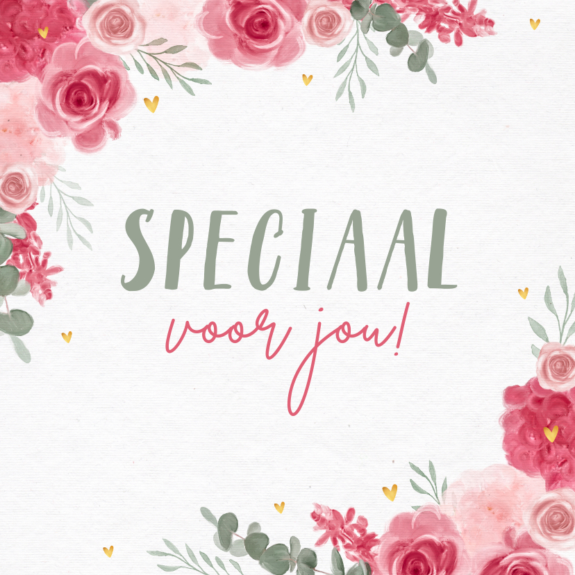 Bloemenkaarten - Bloemenkaart zomaar speciaal voor jou liefs