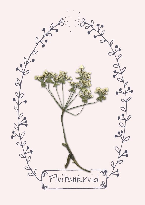 Bloemenkaarten - Bloemenkaarten - Wilde bloem