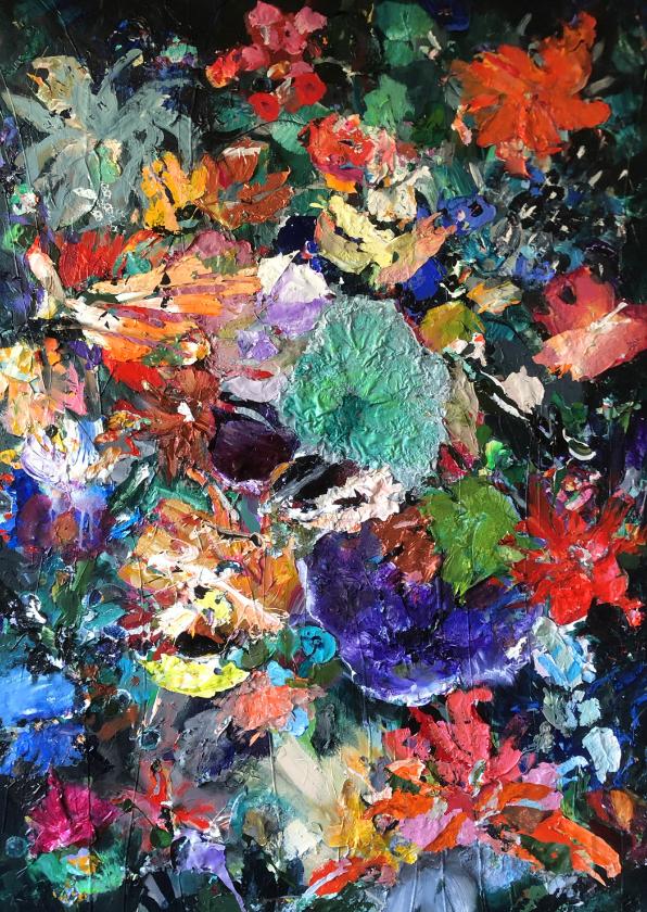 Bloemenkaarten - Bloemenschilderij Martine de Ruiter iets fraais