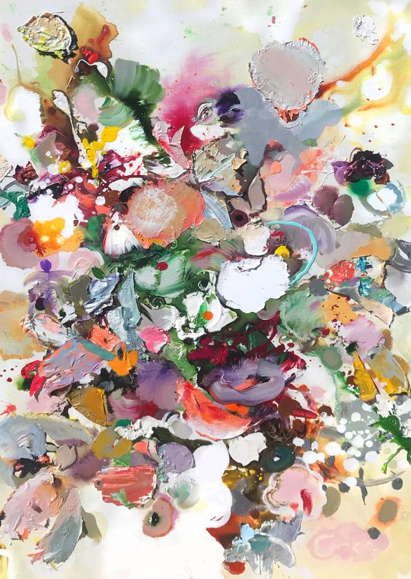 Bloemenkaarten - Bloemenschilderij Martine de Ruiter