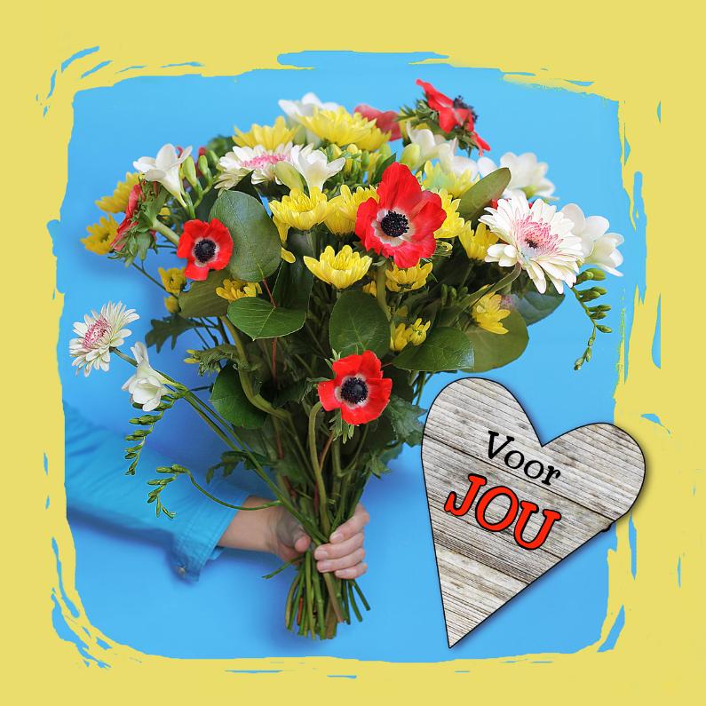 Bloemenkaarten - Bos bloemen, voor jou!