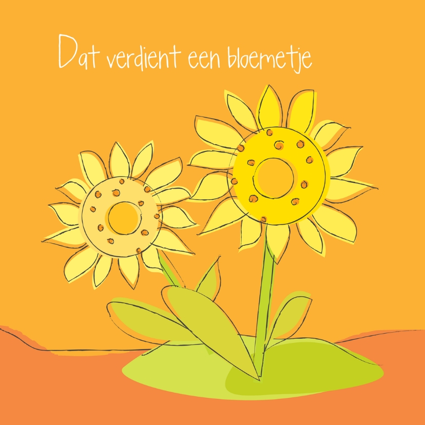 Bloemenkaarten - Dat verdient een zonnebloemetje