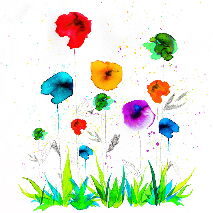 Bloemenkaarten - Dit bloemetje voor jou