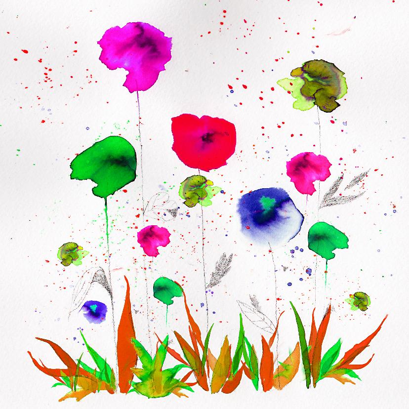 Bloemenkaarten - Een boeketje bloemen