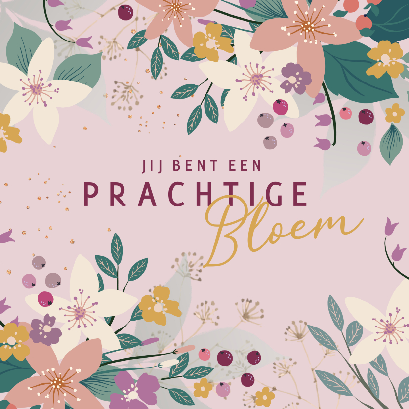 Bloemenkaarten - Italiaanse bloemenkaart 2