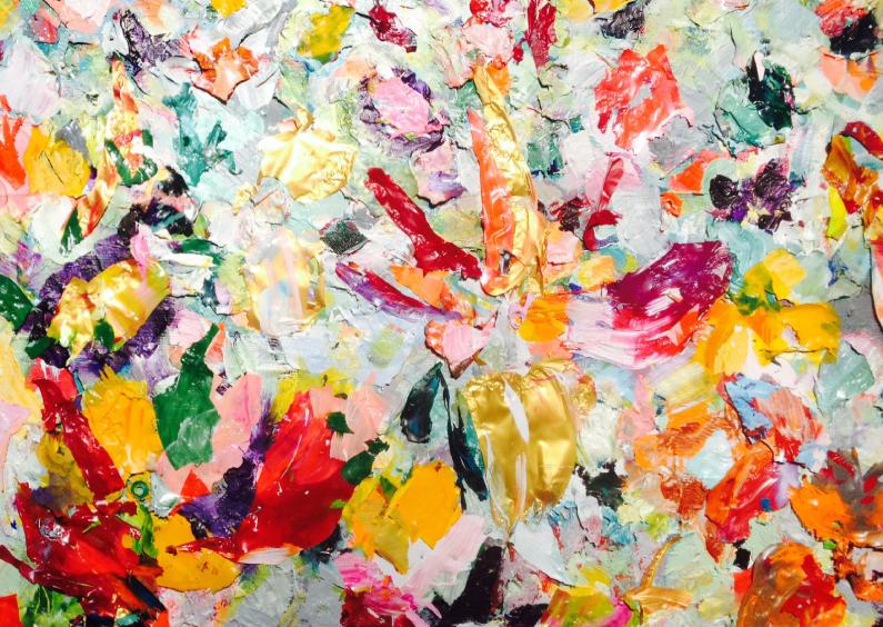 Bloemenkaarten - Kunst print iets fraais rh