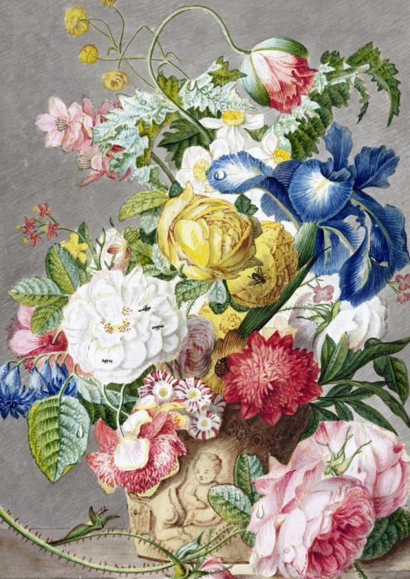 Bloemenkaarten - Kunstkaart Bloemstuk, Cornelis Ploos van Amstel