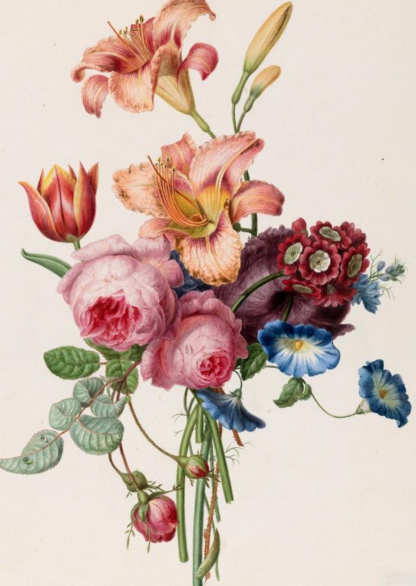 Bloemenkaarten - Kunstkaart Een boeket, Henriëtte Geertruida Knip