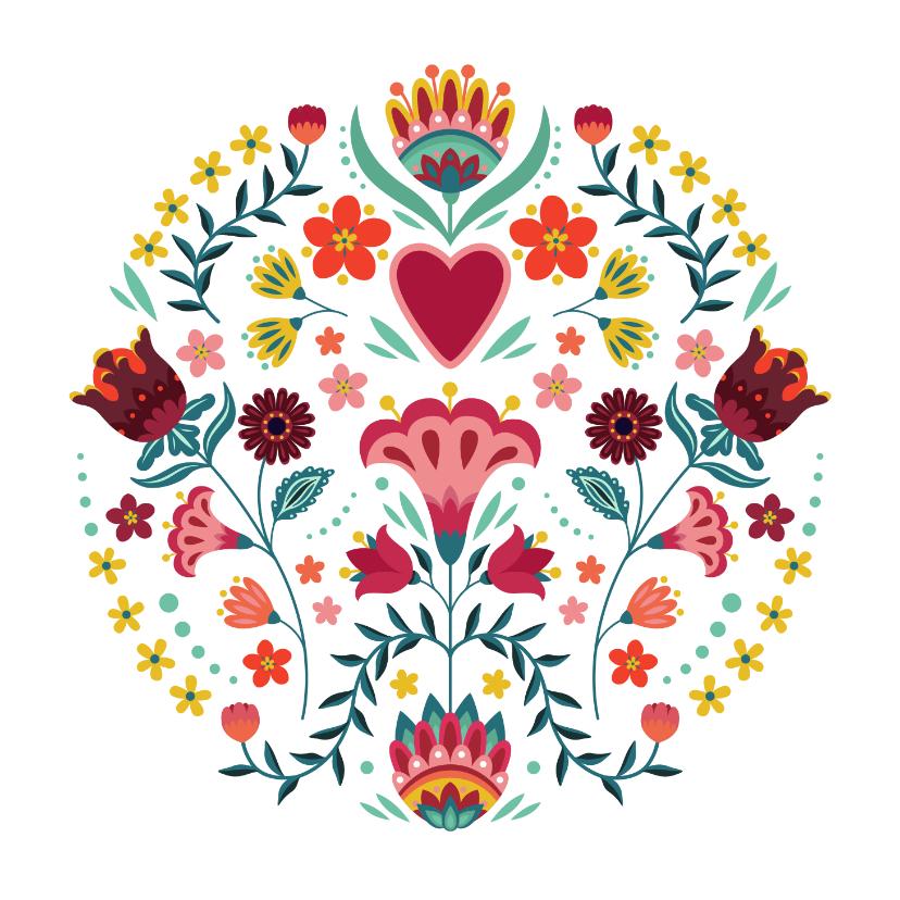 Bloemenkaarten - Mooie en kleurrijke bloemenkaart