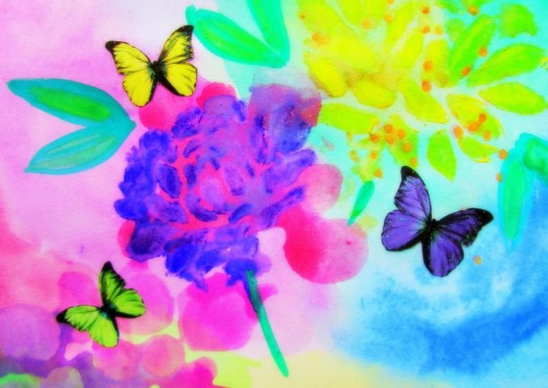 Bloemenkaarten - Purple Flower