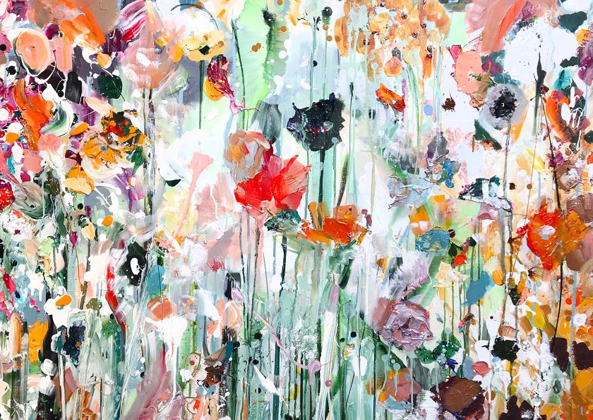 Bloemenkaarten - Schilderij bloemen Martine de Ruiter