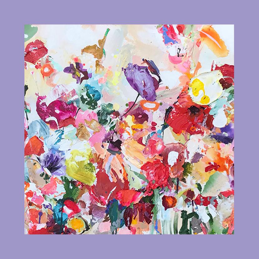 Bloemenkaarten - Schilderkunst met paletstukken van Martine de Ruiter