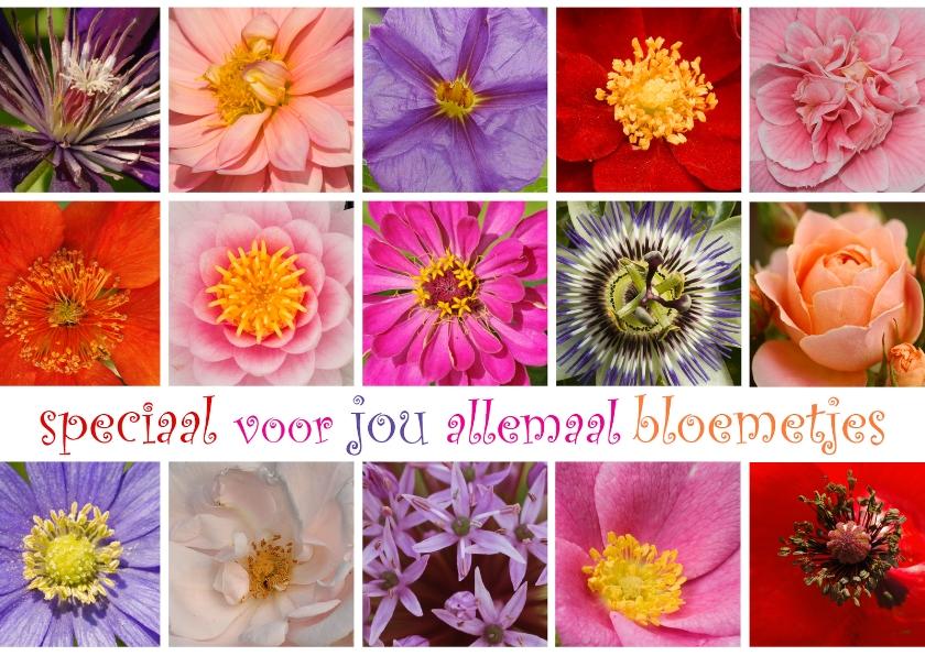 Bloemenkaarten - Speciaal voor jou allemaal bloemetjes