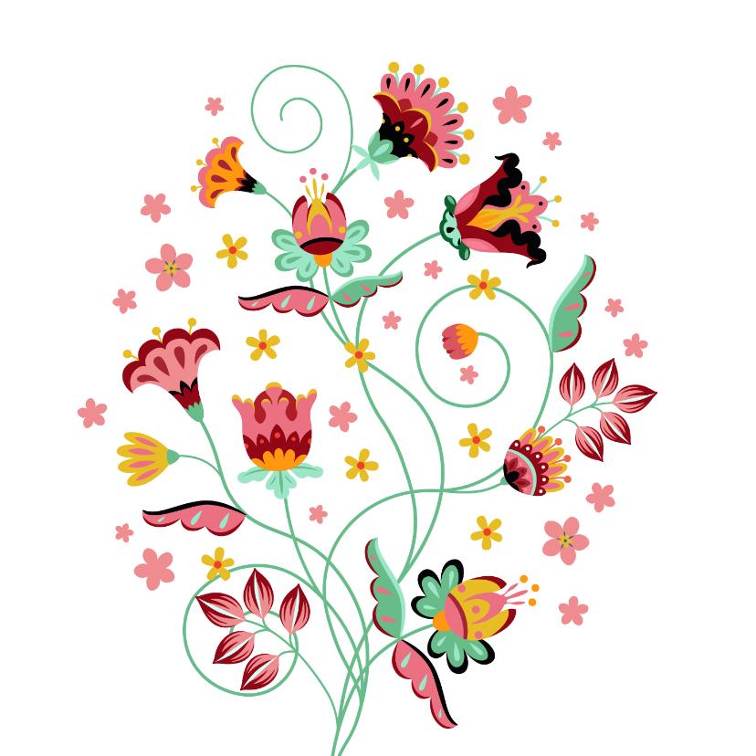 Bloemenkaarten - Stijlvolle, sierlijke en kleurrijke bloemenkaart