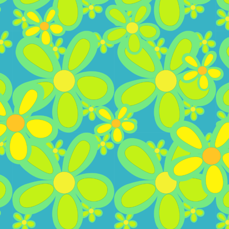 Bloemenkaarten - Summertime in groen en geel