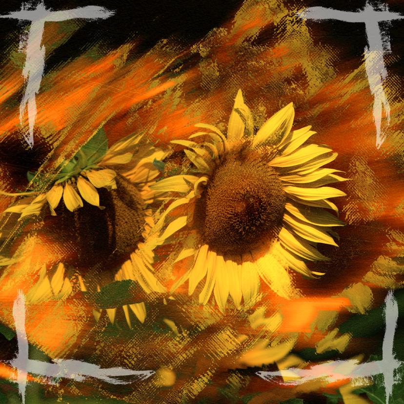 Bloemenkaarten - sunflower 2