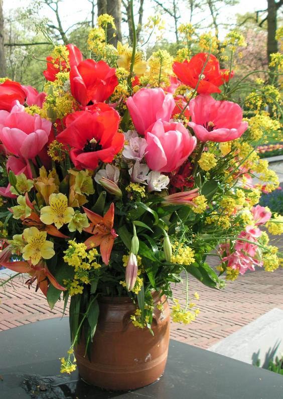 Bloemenkaarten - Veldboeket in vaas