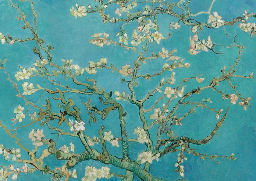 Bloemenkaarten - Vincent van Gogh. Amandelbloesem